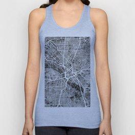 Dallas Texas City Map Unisex Tank Top