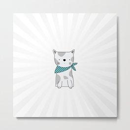 Shining Cat Metal Print