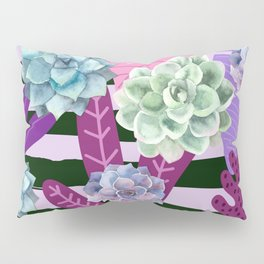 Succulent Stripes Pillow Sham