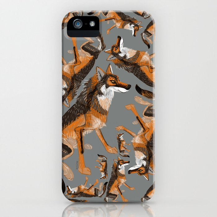 Totem Iberian wolf iPhone Case