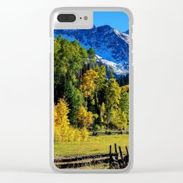 Fall in Colorado Clear iPhone Case