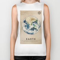 earth Biker Tanks featuring Earth by Heather Landis