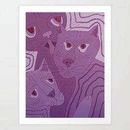 Weird Cats Art Print