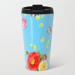 Floating Flowers Travel Mug