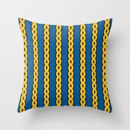 Gold Chain Curtain Throw Pillow