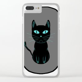 black cat love Clear iPhone Case