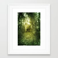 swedish Framed Art Prints featuring Swedish summer by Heroines
