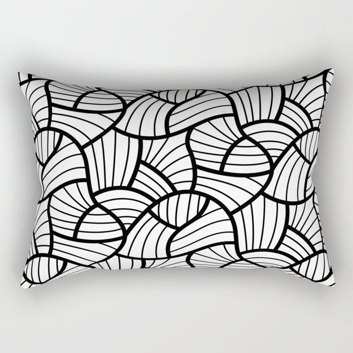 Abstract Lines Pattern Design 3 Rectangular Pillow