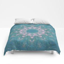 Navajo Turquoise Gemstone Mandala No. 40 Comforters