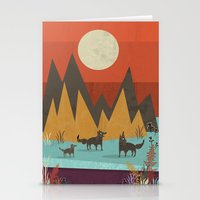 wolves Stationery Cards featuring Wolves by Kakel