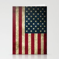 american flag Stationery Cards featuring American Flag  by  Can Encin