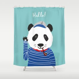 Mr. Panda Seaman Shower Curtain