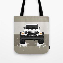 [JEEP] White TJ Tote Bag