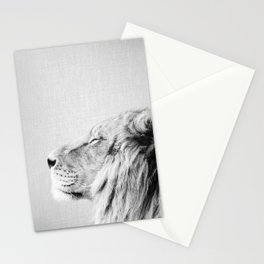Lion Portrait - Black & White Stationery Cards