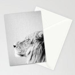 Lion Portrait - Black & White Stationery Cards