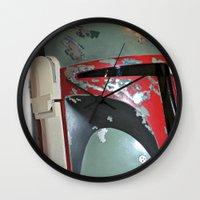 boba fett Wall Clocks featuring Boba Fett by McKenzie Nickolas