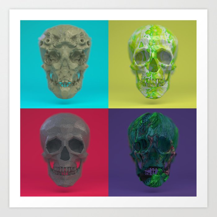 Skull Collection 03 Art Print