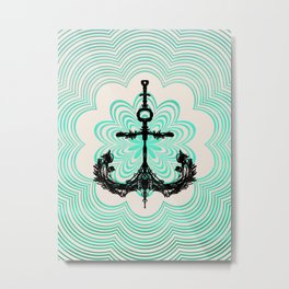 Anchored in the Light... Metal Print