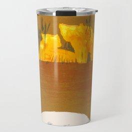 Vintage Africa Travel - Water Buffalo Travel Mug