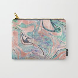Pastel Rose Gold Mermaid Marble Carry-All Pouch