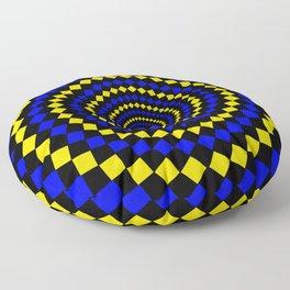 circular diamond pattern Floor Pillow