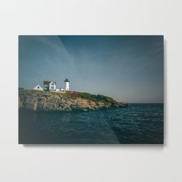 A Sunny Summer Day at Nubble Lighthouse Metal Print