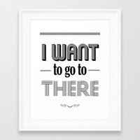 liz lemon Framed Art Prints featuring 30 Rock - I Want To Go To There - Liz Lemon by Pop Art Press