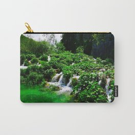 cascades at plitvice lakes national park croatia vibrant Carry-All Pouch