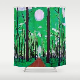 Guiding Spirit of the Forest Shower Curtain