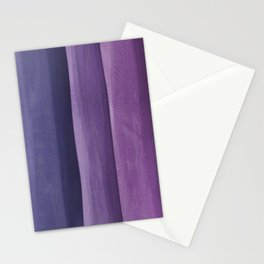 Purple Gradient on Wood Stationery Cards