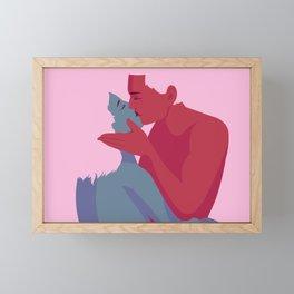 A Kiss Framed Mini Art Print
