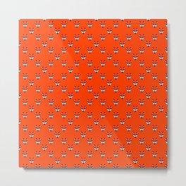 Fox seamless pattern Metal Print