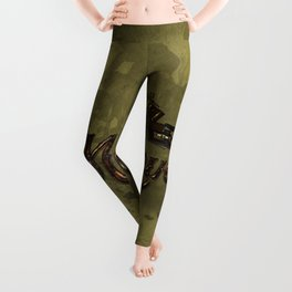 Awesome steampunk motorcycle Leggings