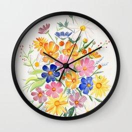 Loose Autumn Bouquet Wall Clock