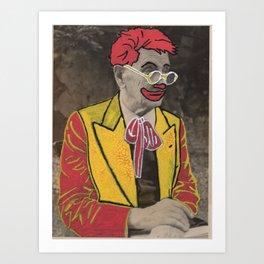Ronald The man behind the makeup Art Print