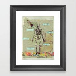 written in your blood Framed Art Print