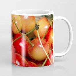 Cherries in a Basket Close Up Coffee Mug