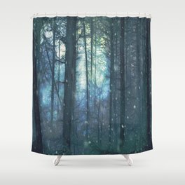 The Woods In Winter Shower Curtain