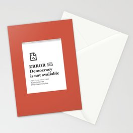 UN headquarters in New York City protest Stationery Cards