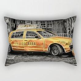 Yellow Taxi Cab Rectangular Pillow