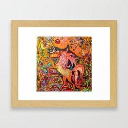 Magical Unicorn Framed Art Print