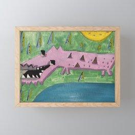 Squareland -squocodrile Framed Mini Art Print