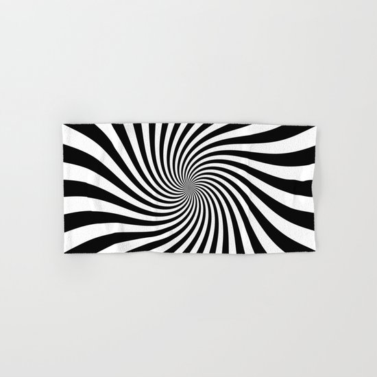 Swirl (Black/White) Hand & Bath Towel
