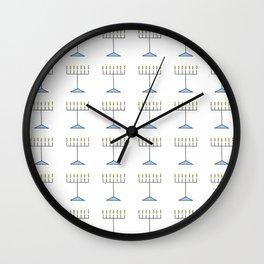 Menorah 17 Wall Clock