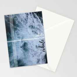 Ocean Inhale exhale wallpaper waves Stationery Cards