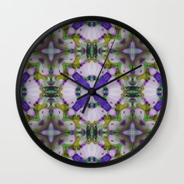 Violet Pinks Wall Clock