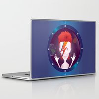 david bowie Laptop & iPad Skins featuring Ziggy Stardust, David Bowie by Mr Doodle Illustrations