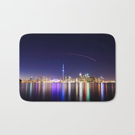 Toronto Vibrant nightscape Bath Mat