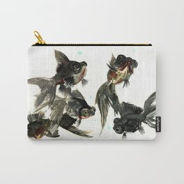 Black Moor, Feng Shui Art, design black fish art, aquarium Carry-All Pouch