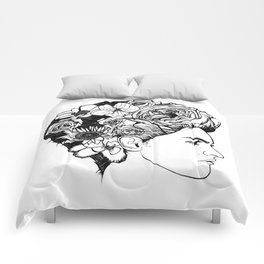 """PHOENIX AND THE FLOWER GIRL """"REFLECTION"""" PLAIN PRINT Comforters"""
